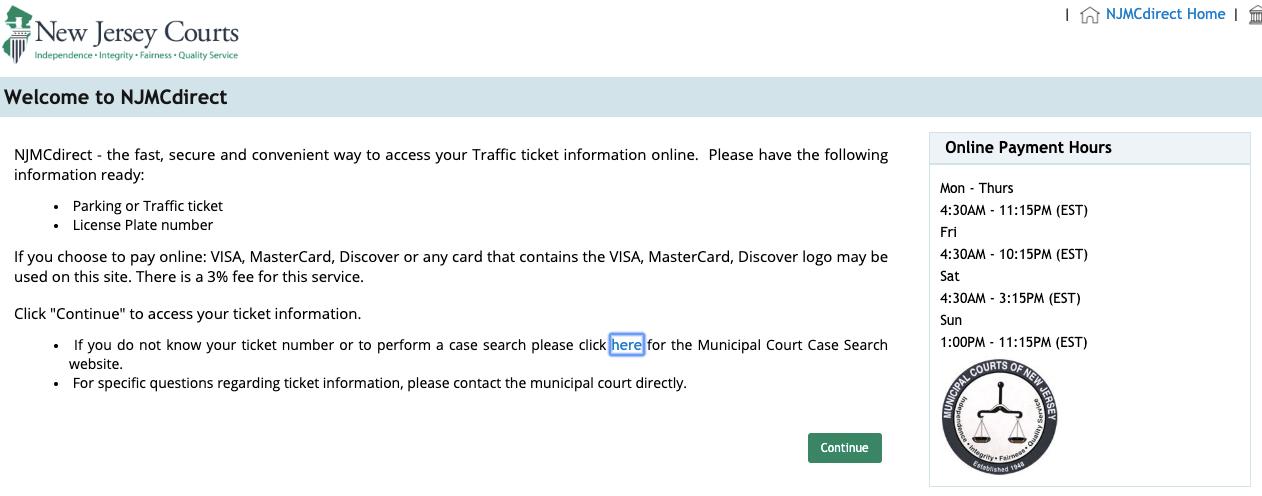 njmcdirect traffic ticket payment portal